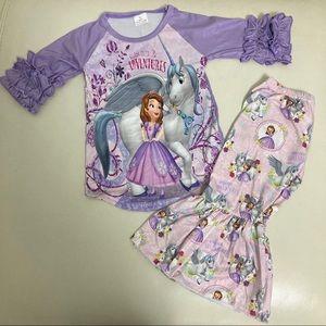 Princess Sophia Cute ruffle pants set outfit